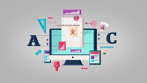 Web Design - Website Layout - Illustration